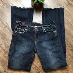 Lucky brand distressed sundown jeans size 6/28